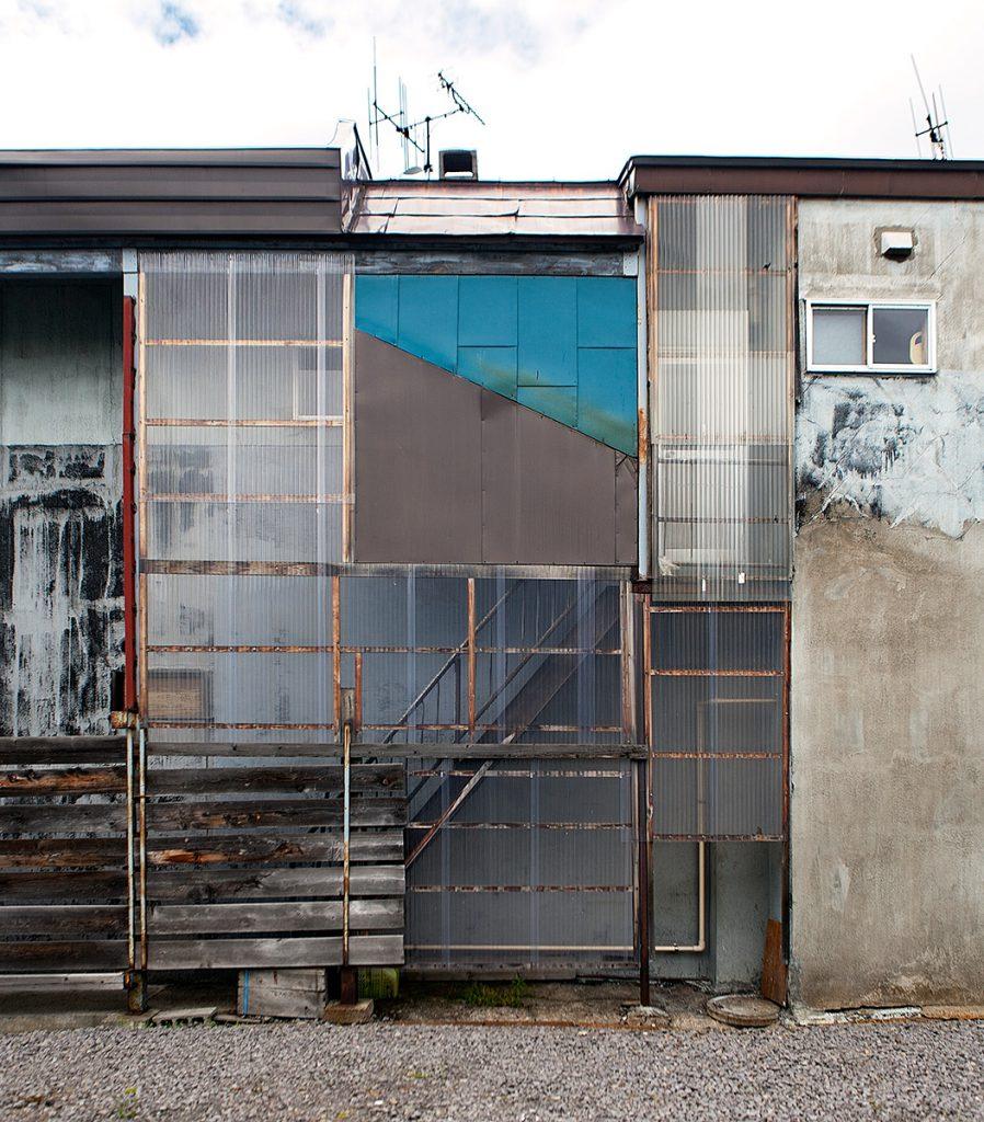 Fassade eines Industriegebäudes