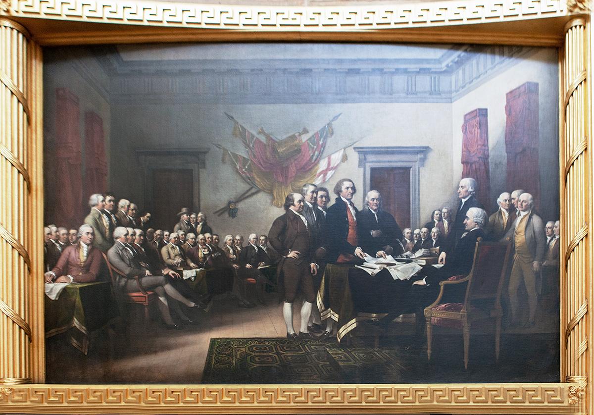 Gemälde Unterzeichnung der Unabhängigkeitserklärung