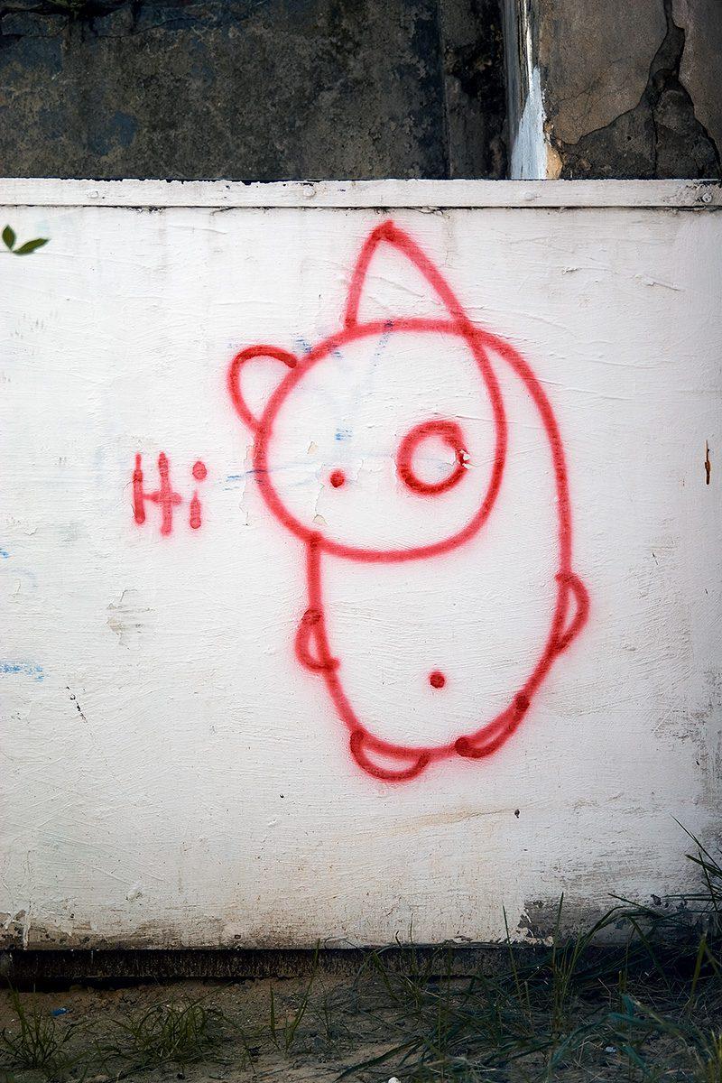 Graffiti mit Panda und Hi