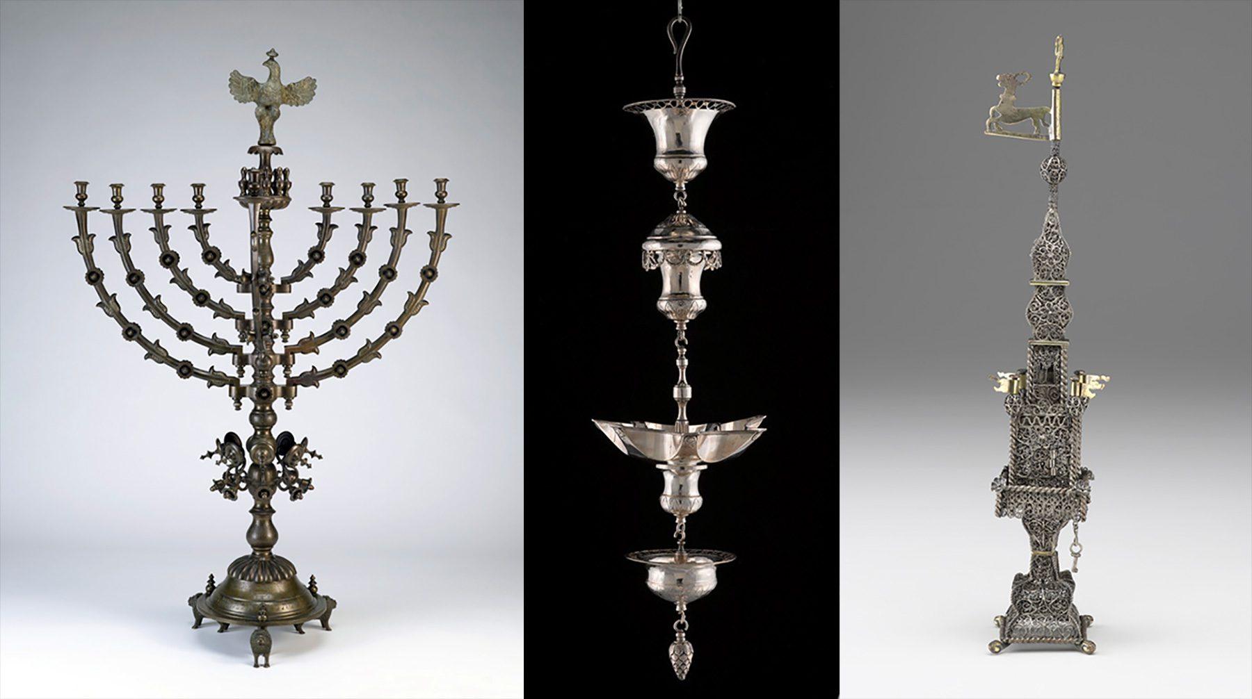 Gegenstände der jüdischen Abteilung im Raleigh Art Museum