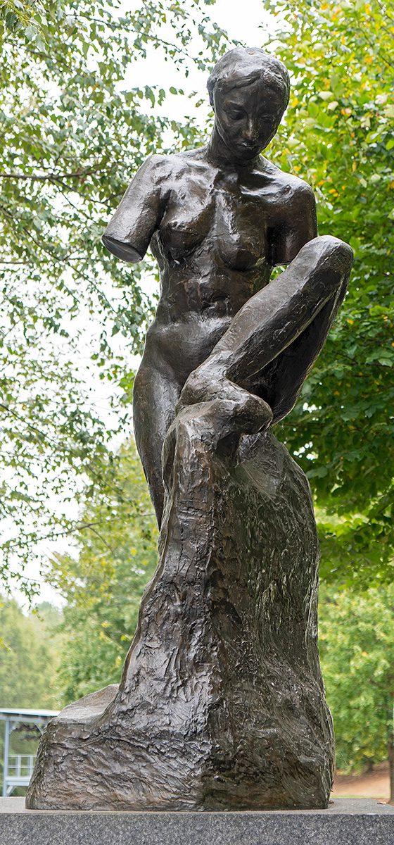 Figur von Rodin vor Raleigh Art Museum