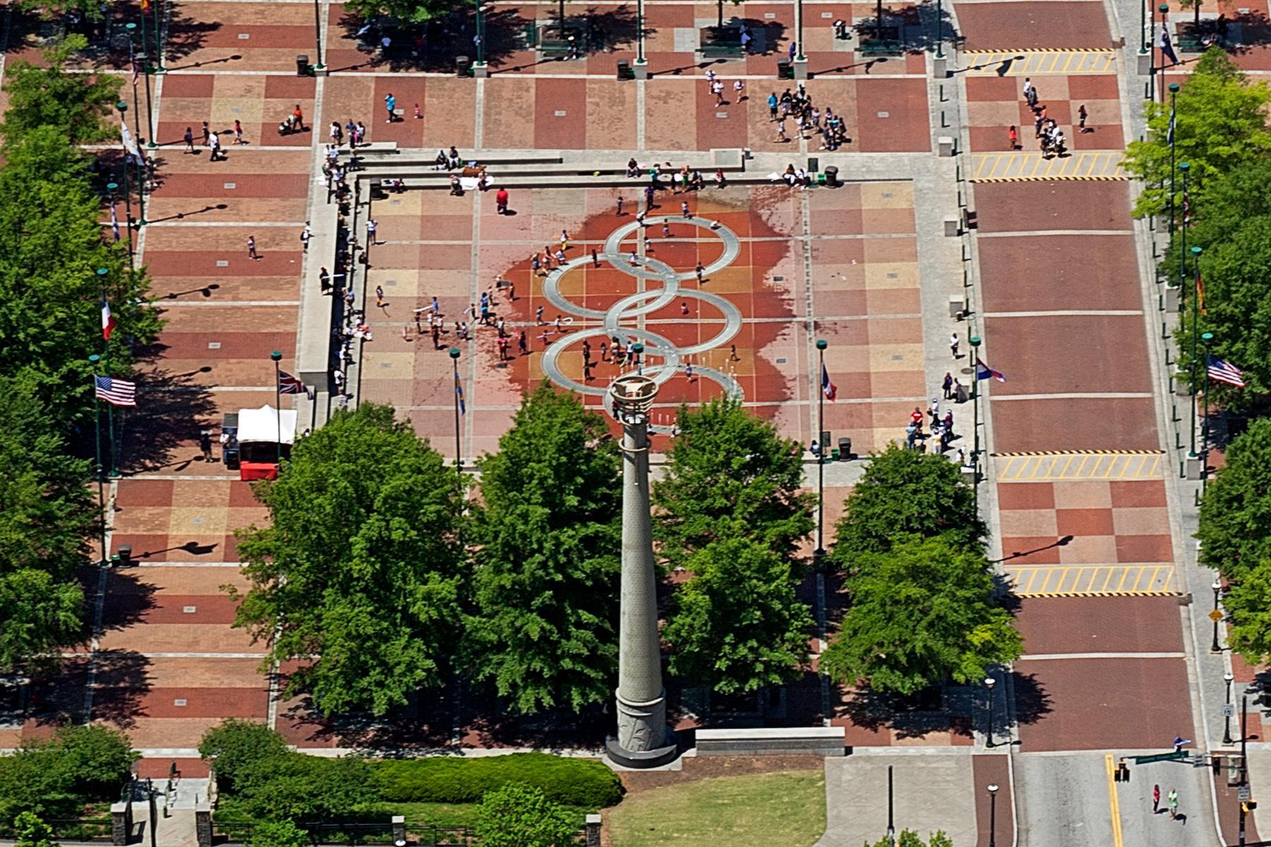 Der Olympia Park aus der Luft