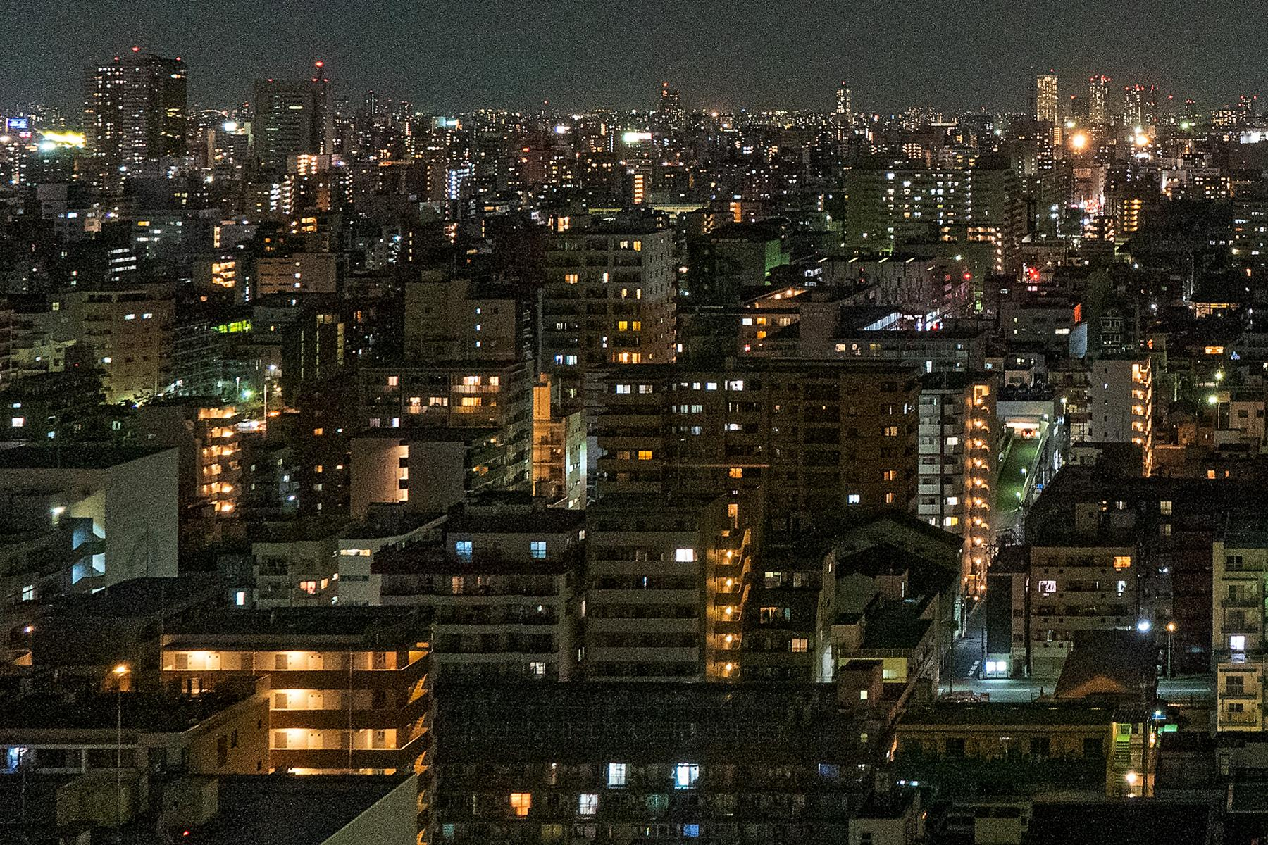 Nächtliches Häusermeer in Tokyo