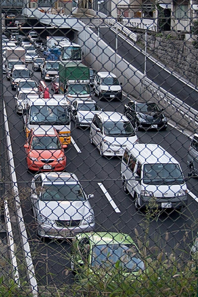 Autoschlange in Tokyo