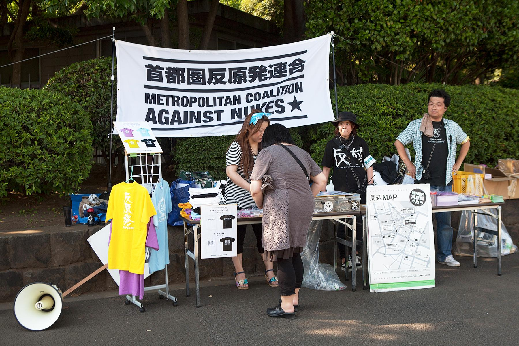 Der Stand von Metropolitan Coalition Against Nukes im Beitrag Tokio Against Nukes