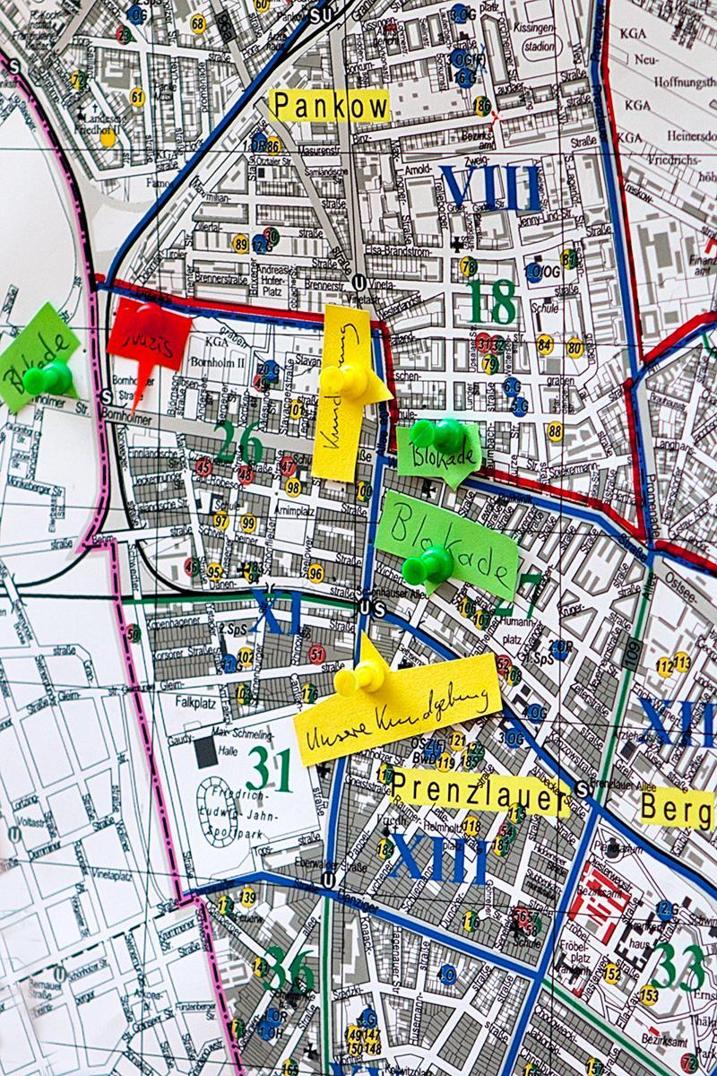 Stadtplan mit Blockade-Planung auf der Seite Stadterkundung.com