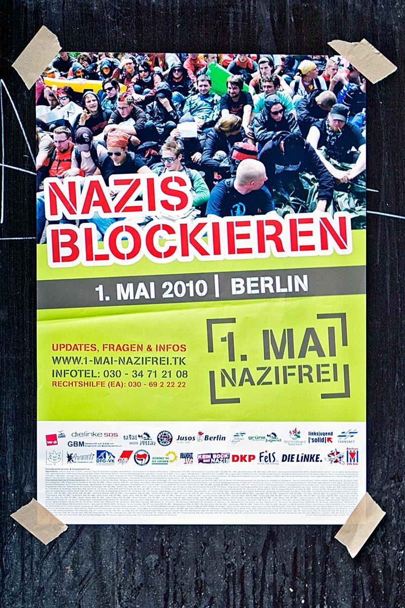 """Plakat """"Nazis Blockieren"""" auf der Seite Stadterkundung.com"""