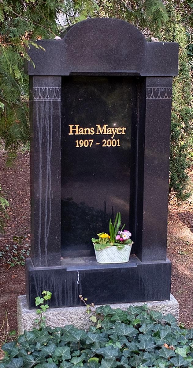 Das Grab von Hans Mayer auf der Seite Stadterkundung.com