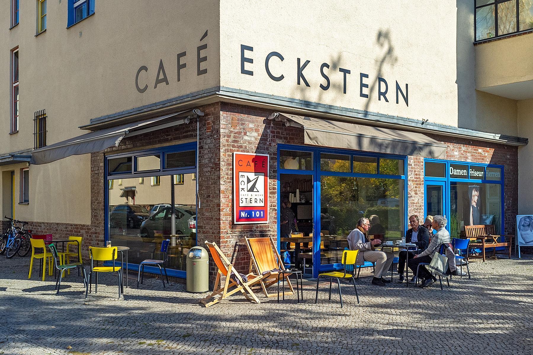 Das Café Eckstein der Siedlung des UNESCO Welterbes